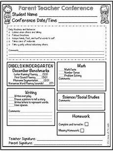 parent teacher conference forms and notes by learning with mrs langley