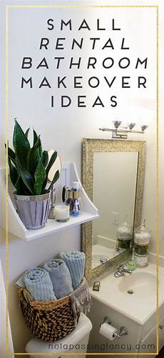 Decorating Ideas For A Rental by Small Rental Bathroom Makeover Ideas Not A Passing Fancy