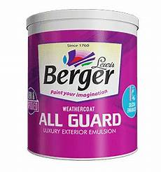 berger weathercoat all guard paint for walls exterior emulsions berger paints