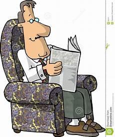Lesen Der Zeitung Stock Abbildung Illustration