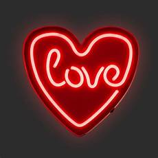 red love heart led neon wall light neon sign wall light