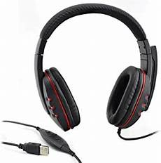 Jazza Wired Leather Headset by Hendont Usb 2 0 Leather Wired Gaming Headset Headphone