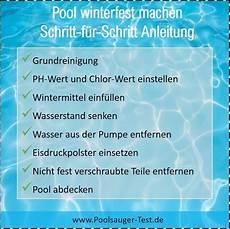 Pool Winterfest Machen Schritt F 252 R Schritt Anleitung
