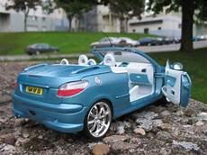 Peugeot 206 Cc Blau Felgen Chrome Solido Modellauto 1 18