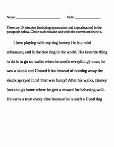 punctuation worksheets in paragraph 20797 ela writing punctuation and capitalization treasure hunt correction worksheet