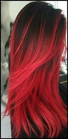 rot schwarz haarfarbe schwarz rot ombre haarfarbe haare schwarz