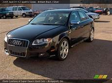 brilliant black 2005 audi s4 4 2 quattro sedan silver interior gtcarlot com vehicle