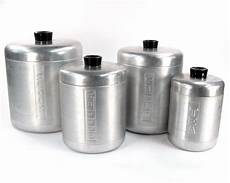 vintage kitchen canisters sets vintage kitchen canister set aluminum 1940 kitchen by