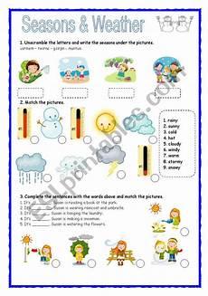 seasons time and weather worksheets 14867 seasons weather esl worksheet by patti