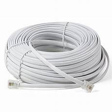 phone wiring 100ft white telephone cord cable wire extension wire prem qual home office ebay