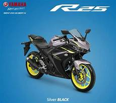 Modifikasi R25 2018 by 4 Pilihan Warna Yamaha Yzf R25 2018 Ada Silver Black Velg