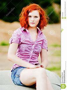 young girl with red hair stock photo image of forest beautiful young girl with red hair stock photo image of fashion carefree 20240262