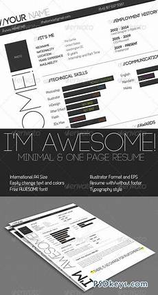 one page minimal resume 195091 187 free download photoshop vector stock image via torrent