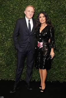 salma hayek husband salma hayek 56 shows off curves as she attends bafta