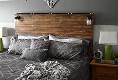 bed frame plank headboard funky paper paint and pine diy wooden plank headboard