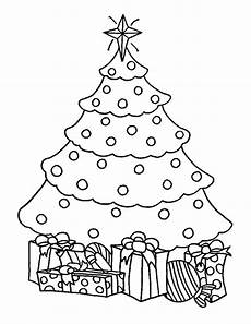 chrismas gifts and trees coloring pages color
