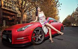Wallpaper Machine Auto Girl Model Asian Car Nissan