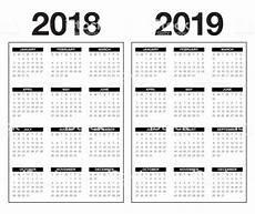 mini kalender 2018 year 2018 2019 calendar vector stock vector more