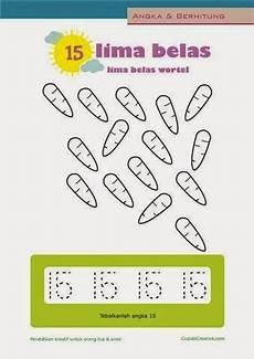 Belajar Berhitung Anak Menulis Mewarnai Angka 11 20 Untuk