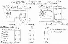 230 volt single phase reversing motor diagram am trying to wire a 115 230 volt 1 phase motor it has 7 wires j10 l1 black t4 yellow t2
