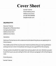 10 cover sheet templates sle templates