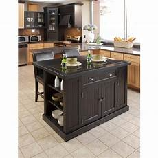 black oval granite tops kitchen island with seating home styles nantucket black kitchen island with granite