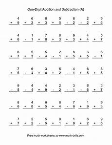 free printable mixed addition and subtraction worksheets for kindergarten 10517 combined addition and subtraction worksheet single digit a school ideas