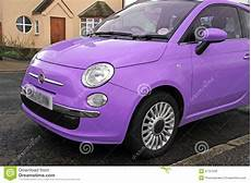 Fiat 500 Small Modern Car Stock Photo Image Of Violet