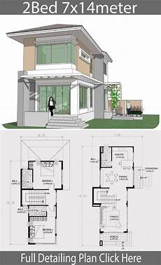 model home design plans 90 small double story small two story house plan 7x14m two story house design