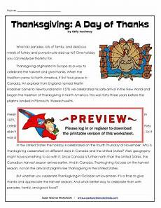 fillable online thanksgiving a day of thanks super teacher worksheets fax email print pdffiller
