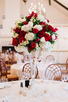 red white and green garden wedding centerpiece amanda