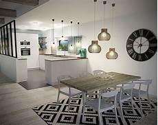 tapis salle a manger cuisine salle 224 manger scandinave 3d grande horloge tapis noir et blanc verri 232 re top deco