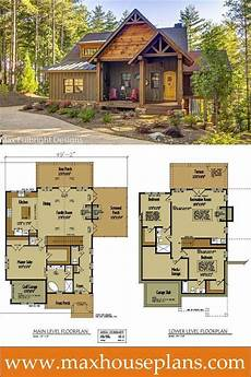 max fulbright house plans small rustic cabin design with open floor plan by max