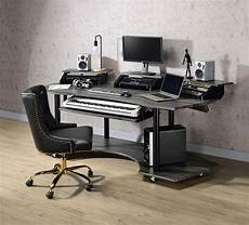 home office furniture computer desk home office computer desk oak black eleazar 92895 acme