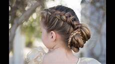 dutch braided bun updo cute girls hairstyles youtube
