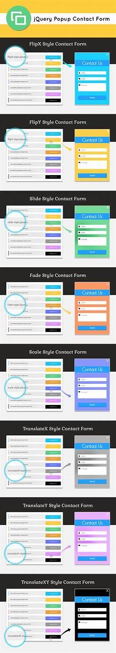 jquery popup contact form script formget