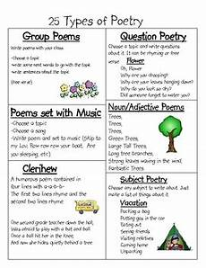 types of poetry worksheet 4th grade 25453 25 types of poetry by nicholson teachers pay teachers
