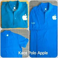 jual kaos baju dewasa polo apple sablon polyplex cutting