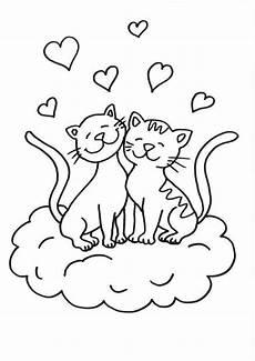 Malvorlagen Katzen Quiz Kostenlose Malvorlage Katzen Katze Und Kater Zum Ausmalen