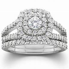 1 1 10ct cushion halo diamond engagement wedding ring 10k white gold ebay