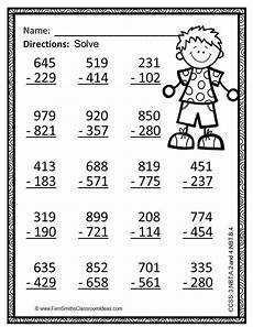 addition and subtraction worksheets with regrouping for 3rd grade 9680 3rd grade go math 1 10 color by numbers subtraction multi digit numbers to 1000 math and third