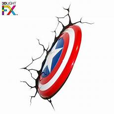 3d light fx marvel captain america shield 3d wall nightlight razors edge collectibles