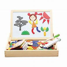 cheap magnetic jigsaw puzzle with wooden black white drawing board sale online with free