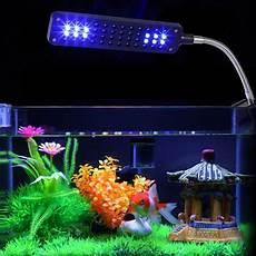 yosoo led aquarium light fish tank white blue l 48 led aquarium light arm clip