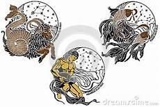 Steinbock Wassermann Fische Und Das Sternzeichen Vektor