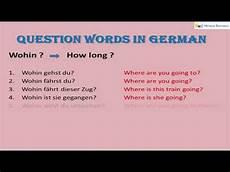 W Fragen Question Words In German