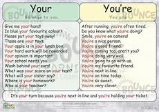 often confused words your vs you re bounce learning kids