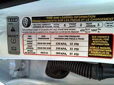 looking for usa tire pressure door jamb audi sticker part page 2 audiworld