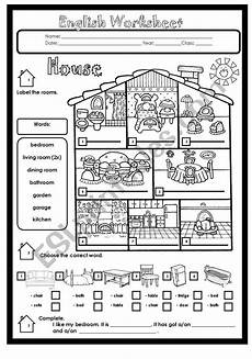worksheets rooms 19037 house rooms and furniture esl worksheet by kimwinchester