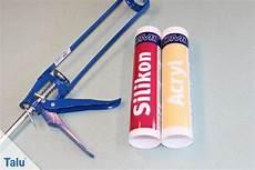 Unterschied Acryl Silikon - acryl oder silikon wann es wo verwendet wird